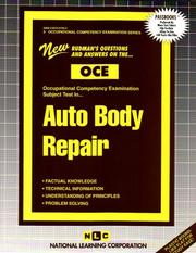 Cover of: Auto Body Repair (Occupational Competency Examination) | Jack Rudman