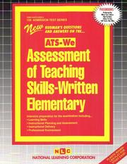 Assessment of Teaching Skills-Written Elementary: Ats-We