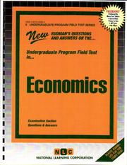 Cover of: Economics (Undergraduate Program Field Tests) (Undergraduate Program Field Tests (Upft).) | Jack Rudman