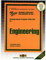 Cover of: Engineering (Undergraduate Program Field Tests (Upft).) | Jack Rudman