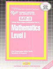Cover of: SAT ll Mathematics Level 1 (SAT Subject Test series) (Sat II  /College Board Achievement Test Series, No 11) |