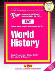 Cover of: SAT ll Subject Test in World History (SAT Subject Test Series) |