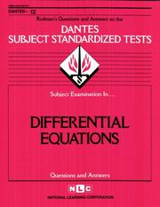Cover of: DSST Differential Equations | Jack Rudman