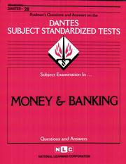 Cover of: DSST Money & Banking (DANTES series) (Dantes Subject Standardized Tests (Dantes).) |