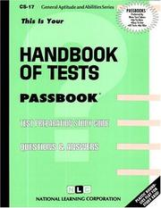 Cover of: Handbook of Tests | Jack Rudman