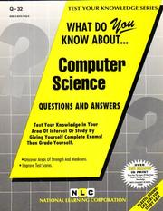 Cover of: What Do You Know About Computer Science (Test Your Knowledge Ser : No. Q-32) | Jack Rudman