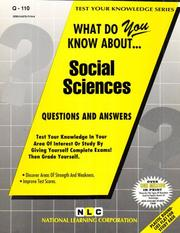 Cover of: What Do You Know About Social Sciences | Jack Rudman