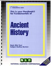 Cover of: Ancient History | National Learning Corporation