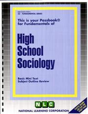 Cover of: High School Sociology |