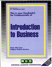 Cover of: Introduction to Business | National Learning Corporation