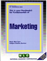 Cover of: Marketing | National Learning Corporation