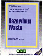 Cover of: Hazardous Waste | National Learning Corporation