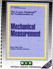 Cover of: Mechanical Measurement | National Learning Corporation