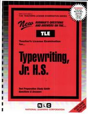 Cover of: Teacher of Typewriting |