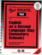 Cover of: Teacher of English As a Second Language |