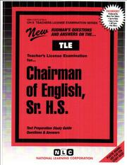 Cover of: English, Sr. H.S | Jack Rudman