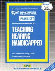 Cover of: PRAXIS/CST Teaching Hearing Handicapped | Jack Rudman