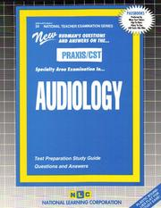 Cover of: PRAXIS/CST Audiology |