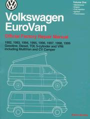 Cover of: Volkswagen EuroVan |