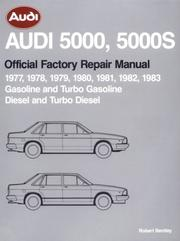 Cover of: Audi 5000, 5000S official factory repair manual |