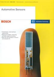 Cover of: Automotive Sensors (Bosch Technical Library)