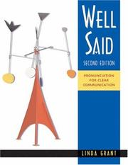 Cover of: Well Said pronunciation for clear communication