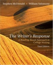 Cover of: The writer's response | Stephen McDonald