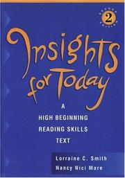 Cover of: Insights for today | Lorraine C. Smith