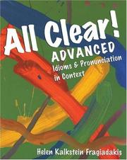 Cover of: All Clear!  Advanced | Helen Kalkstein Fragiadakis