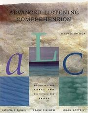 Advanced listening comprehension by Patricia Dunkel