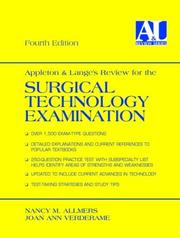 Cover of: Appleton & Lange's review for the surgical technology examination