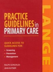 Practice Guidelines in Primary Care by Ralph, Md. Gonzales, Jean S., MD Jutner