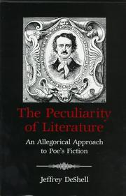 Cover of: The peculiarity of literature