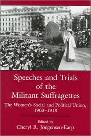 Cover of: Speeches and Trials of the Militant Suffragettes