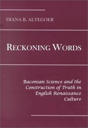 Cover of: Reckoning words