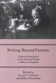 Cover of: Writing beyond fascism |