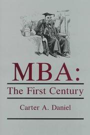 Cover of: MBA