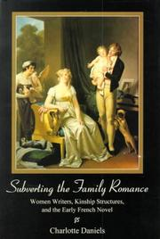 Cover of: Subverting the family romance