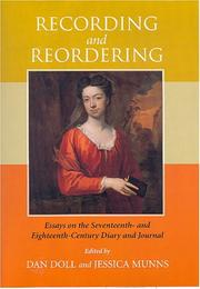 Cover of: Recording And Reordering |