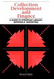 Cover of: Collection development and finance