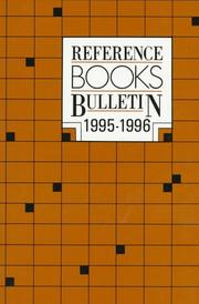 Reference Books Bulletin 1995-96