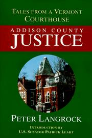 Cover of: Addison County Justice