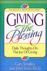Cover of: Giving the blessing