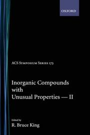 Cover of: Inorganic Compounds with Unusual Properties II (Advances in Chemistry Series)