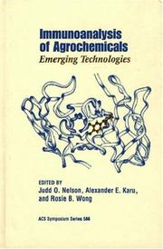 Cover of: Immunoanalysis of agrochemicals
