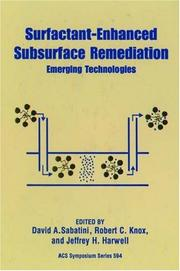 Cover of: Surfactant-enhanced subsurface remediation |