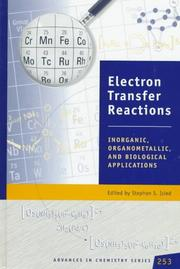 Cover of: Electron transfer reactions by