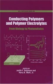Cover of: Conducting Polymers and Polymer Electrolytes |