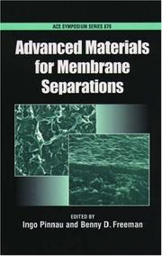 Cover of: Advanced Materials for Membrane Separations (Acs Symposium Series) |