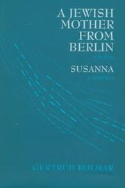 Cover of: A Jewish mother from Berlin